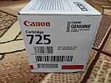 Картридж тонерный Canon 725 для принтера LBP6000, LBP6020, LBP6030, MF3010 1600 копий Black ОРИГИНАЛ, фото 2