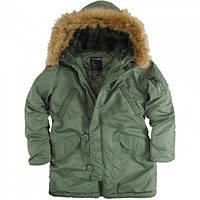 Зимова жіноча куртка аляска Alpha Industries Darla Parka WJD38014C1 (Sage Green)