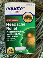 От мигрени и головной боли Equate Headache Relief, 24шт, фото 1