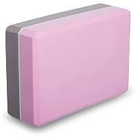 Блок для йоги двоколірний FI-1713 (EVA 120g, р-р 23х15х7,5см, кольори в асортименті)