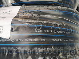 Рукав(шланг) для газовой сварки кислородный 9мм Semperit (Чехия) бухта 50м, фото 2