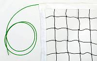 Сітка для волейболу (PE 2,8 мм, р-н 9,5х1м, з метал. тросом)