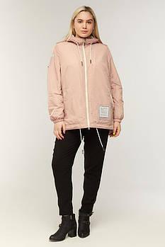 / Размер 50,52,54,56,58,60,62,64 / Женская весенняя куртка , прямого силуэта / 848 цвет бежевый