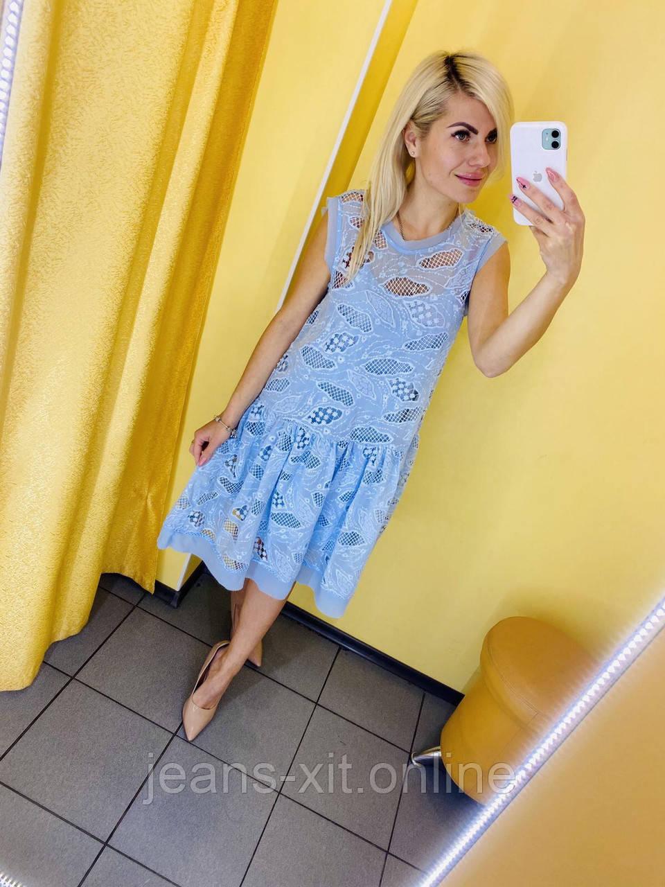 Сукня Жін. L(р) блакитний 9353 КНР Літо-В