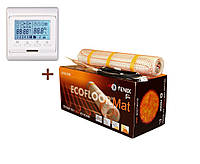 Теплый пол Fenix нагревательный мат двухжильный LDTS160/340Ват/2.1 м² + терморегулятор Woks m6.716