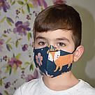 """5 шт. детский набор """"Собери сам"""". Маска защитная трехслойная, многоразовая, хлопковая, фото 5"""