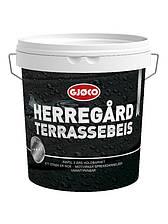Просочення для дерева і террасс Gjoco Herregard Terrassebeis (С) для дерева, 2,7 л