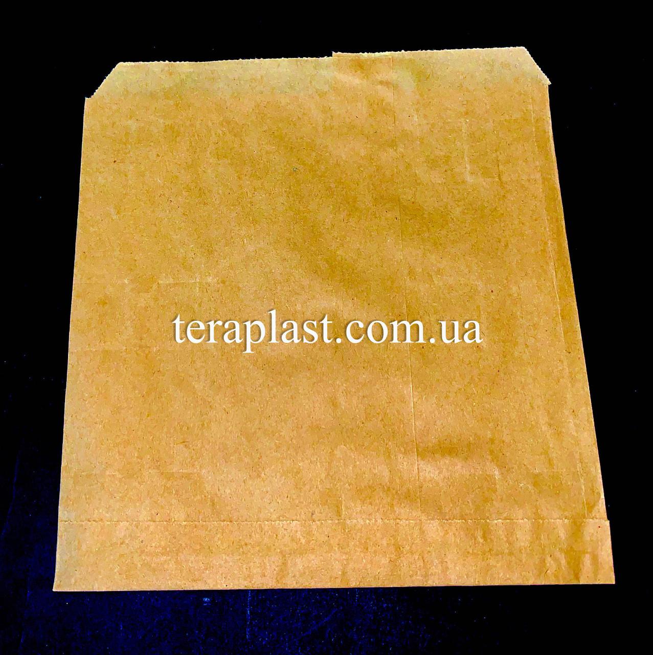 Пакет бумажный саше бурый 180х180