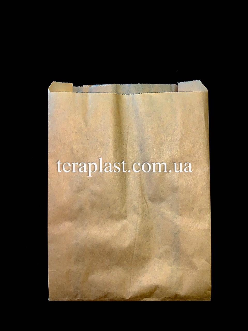 Пакет бумажный саше бурый 180х250х60
