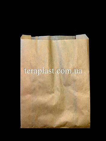 Пакет бумажный саше бурый 180х250х60, фото 2