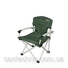 Кресло складное алюминиевое GC с жесткими подлокотниками