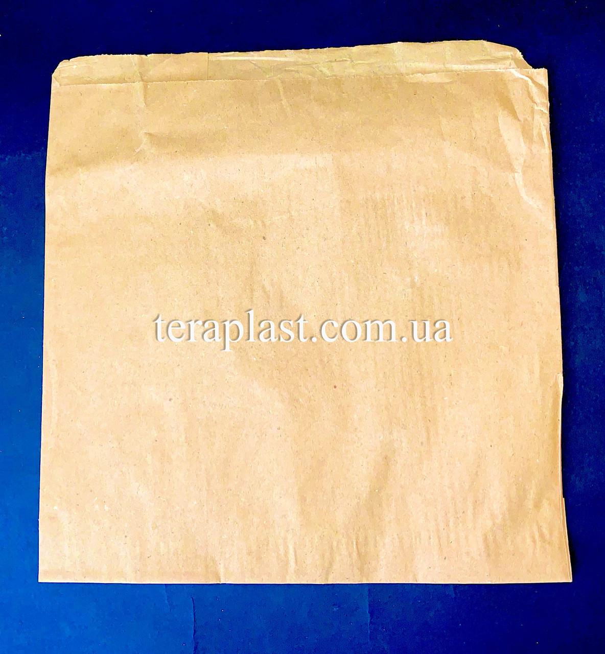 Пакет бумажный саше бурый 210х210