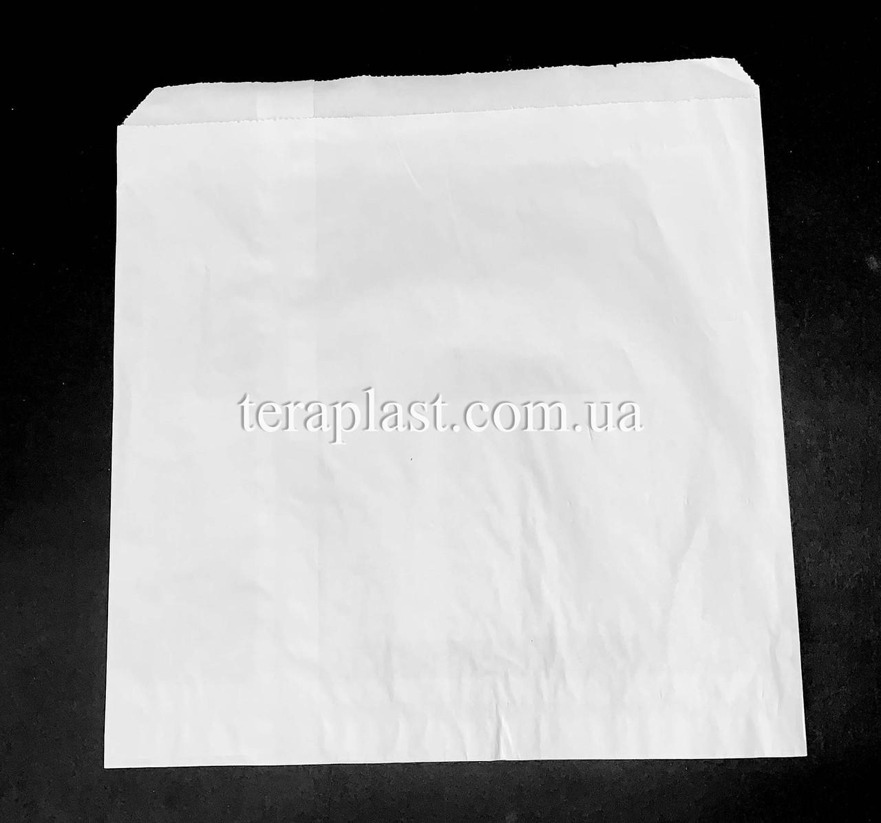 Пакет бумажный саше белый 210х210