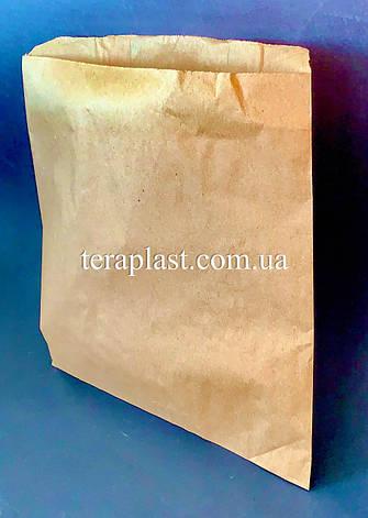 Пакет бумажный саше бурый 240х240, фото 2