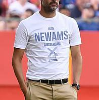 Модная летняя  футболка со стильной картинкой NEWAMS хлопковая мягкий дышащий принт!