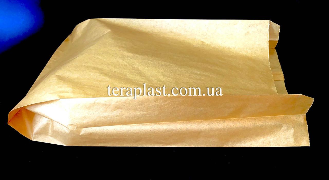 Пакет бумажный саше бурый 250х390х80 (импортный крафт)
