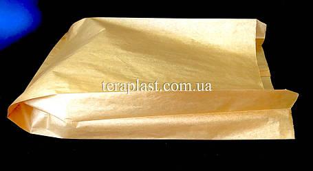 Пакет бумажный саше бурый 250х390х80 (импортный крафт), фото 2