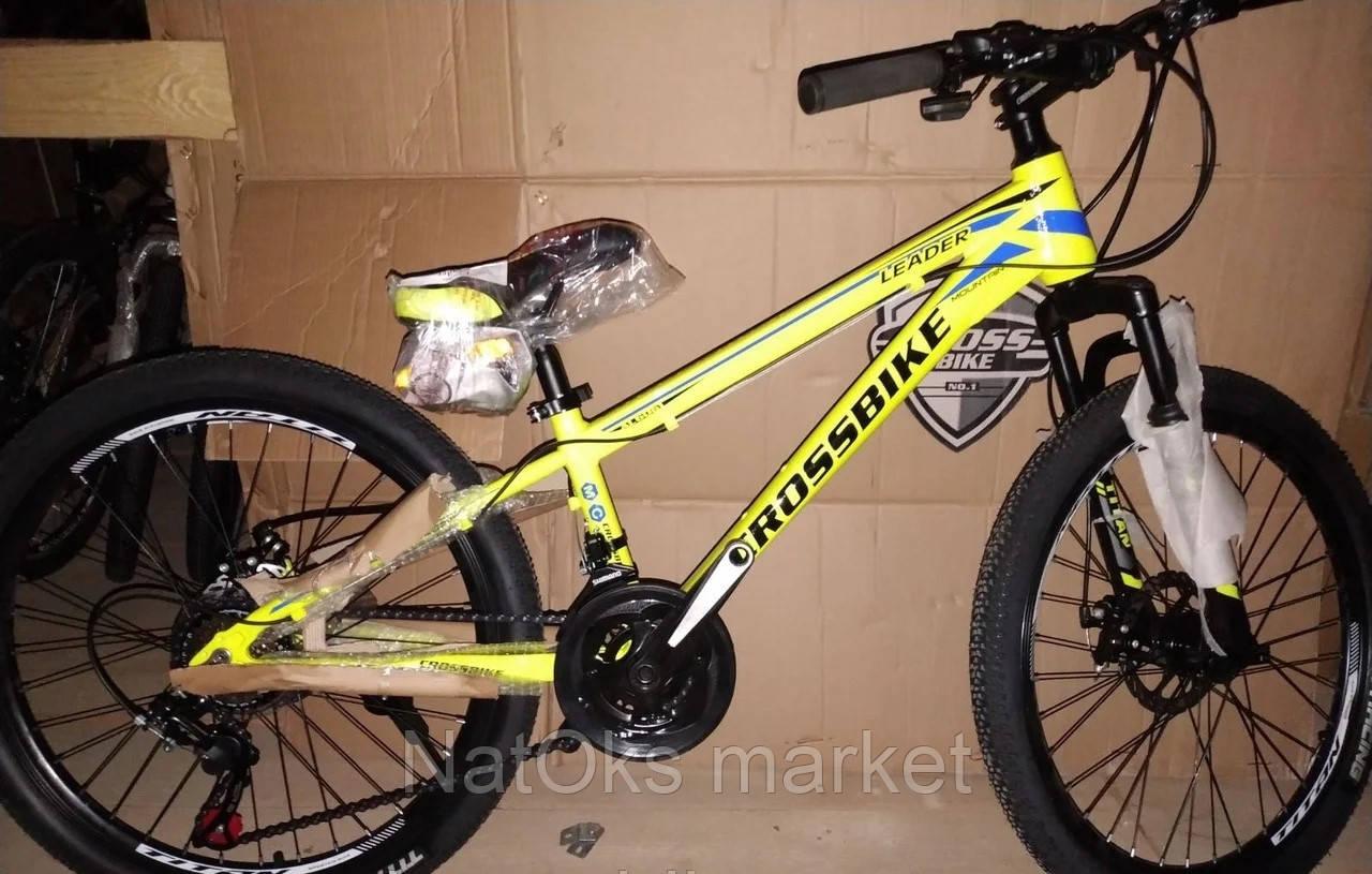"Велосипед Cross Leader 24"" (yellow - blue - black)"