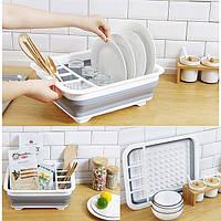 Раскладная сушилка для посуды KitchenCraft силиконовая (00085)