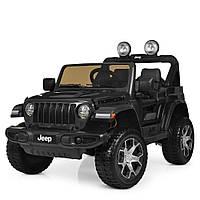 Детский электромобиль Jeep (4 мотора по 35W, MP3, USB, FM) Джип Bambi M 4176EBLR-2 Черный