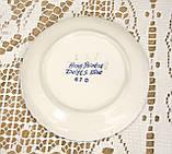 Коллекционная фарфоровая тарелочка с парусником, делфтский фарфор, Delft, Голландия, фото 3