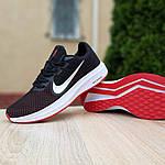 Мужские кроссовки Nike Running (черно-белые с красным) 10133, фото 6