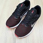 Мужские кроссовки Nike Running (черно-белые с красным) 10133, фото 7