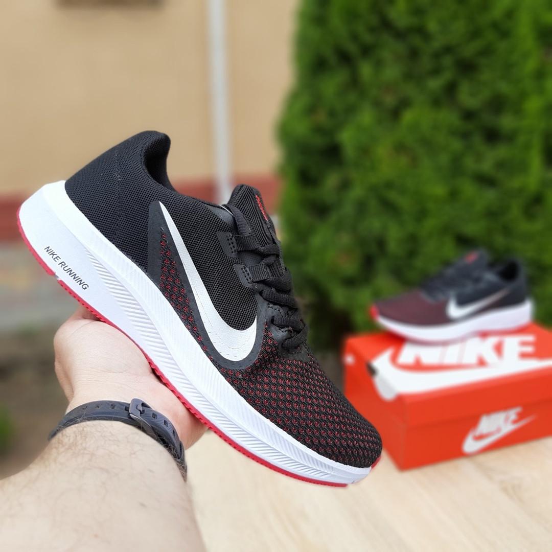 Мужские кроссовки Nike Running (черно-белые с красным) 10133
