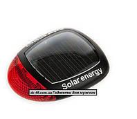 Вело фонарь задний ,солнечные батареи 2 led.