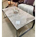 Журнальный столик BRIGHTON R керамика светло-серый глянец, фото 3