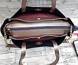 Жіноча чорна сумка Celine з еко-шкіри з додатковими відділеннями по боках 30*25 см, фото 2
