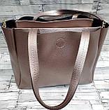 Жіноча чорна сумка Celine з еко-шкіри з додатковими відділеннями по боках 30*25 см, фото 3