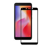 Защитное стекло для Xiaomi Redmi 6/6A Black  (Полный клей)