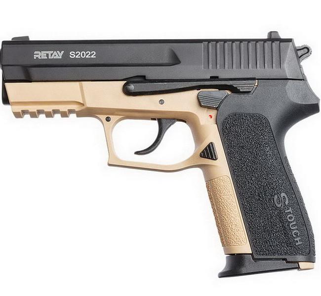 Пистолет сигнальный стартовый Retay Sig Sauer 2022, (9мм, 18 зарядов), sand