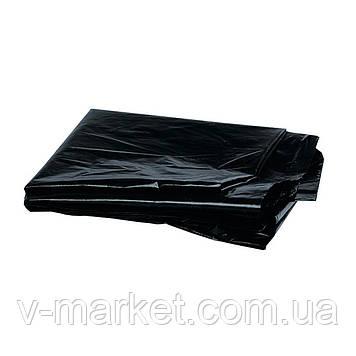 Мешок полиэтиленовый черный 55 мкм., 65 см на 100 см, 50 шт