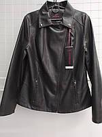 Красивая стильная женская куртка кожанка больших размеров 48-60