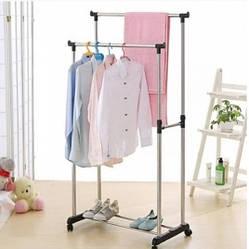Двойная напольная передвижная стойка для одежды Double-Pole (412501)