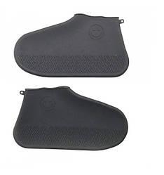 Бахилы чехлы дождевики на обувь Shoe Cover черные Размер M(35/40) (060403)