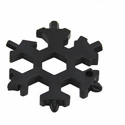 Мультитул отвертка 18 в 1 в виде снежинки Snowflake Wrench Tool (86411)