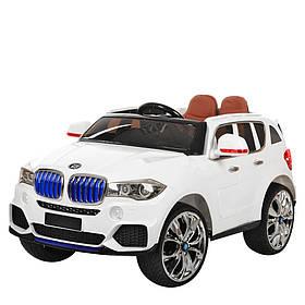 Дитячий електромобіль BMW (2 мотора за 35W, MP4) Джип Bambi M 2762(MP4)EBLR-1 Білий