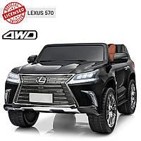 Детский электромобиль Lexus (4 мотора по 35W, 2 аккум, USB,SD) Джип Bambi M 3906EBLR-2 Черный