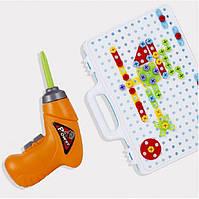 Конструктор Create'nPlay Винтовая Мозаика с электрическим шуруповертом для детского творчества 106 деталей + буклет с идеями (521039)