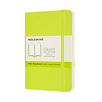 Блокнот Moleskine Classic Кишеньковий (9х14 см) Нелинованный Лимонний Зелений М'яка обкладинка (8056420850987)