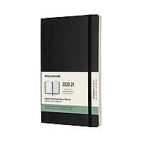 Еженедельник Moleskine 2020-2021 Средний (13х21 см) Чёрный Мягкая обложка (DSB18WN3Y21) (8053853606990)