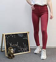 Джинсы женские красные узкие 26