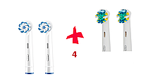Насадки для зубної щітки ORAL-B 4 шт. (2 шт. Sensi Ultra Thin, 2шт. Floss Action)