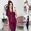 Р 42-48 Домашний костюм - пижама рубашка со штанами 21445