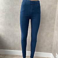 Молодежные женские джеггинсы джинсы Ласточка демисезонные с карманами, классика, ( светло-синий, синий)