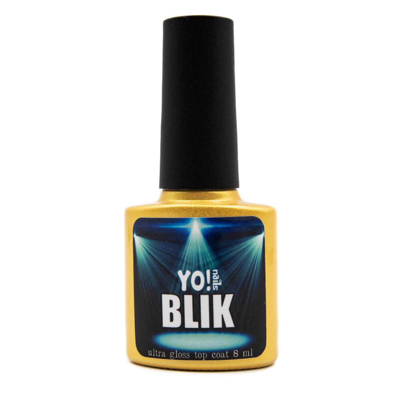 Ультраглянцевый топ без липкого слоя  Yo!Nails BLIK, 8 мл