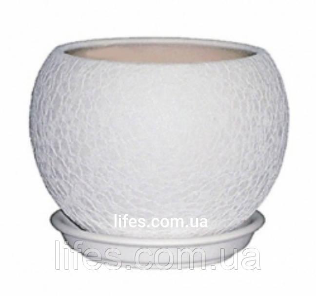 Вазон керамический белый 0.4л
